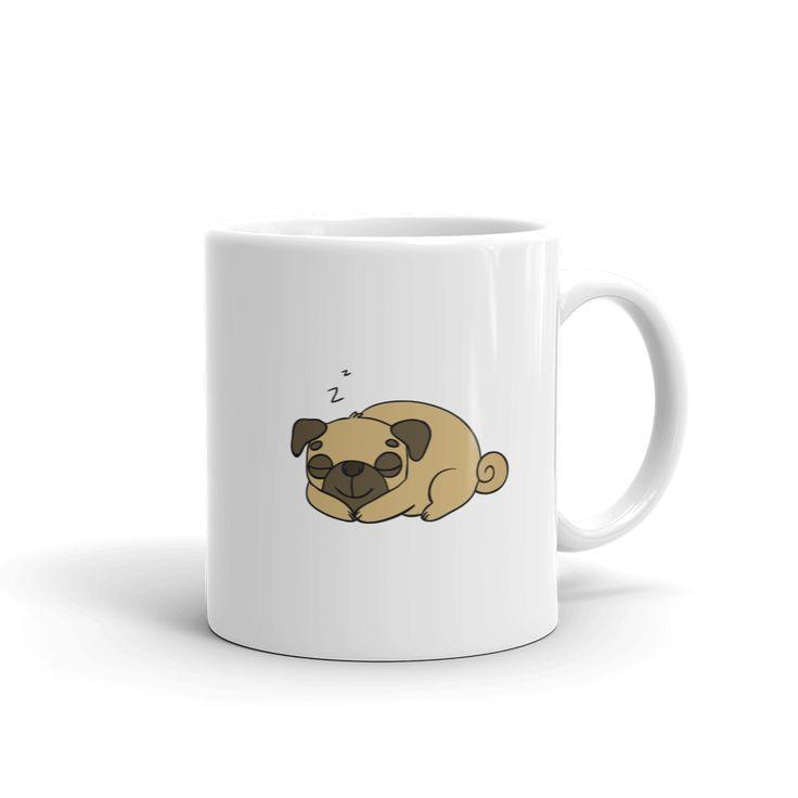 Sleeping Pug Mug