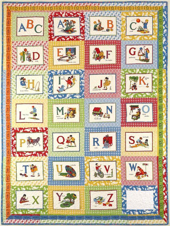 410 best A is for Alphabet images on Pinterest   Children, Baby ... : alphabet baby quilt pattern - Adamdwight.com