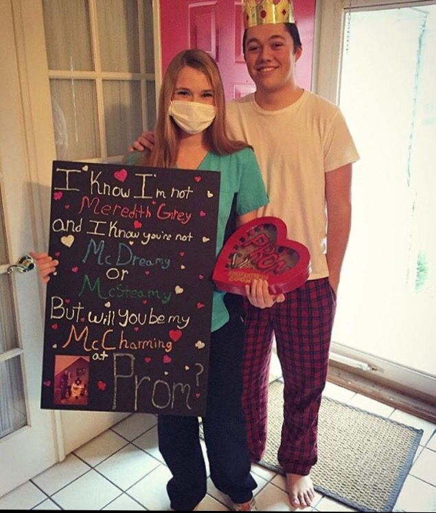 Perfect way to ask a guy to prom if you love Grey's Anatomy