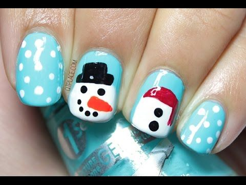 Snowman nail art - YouTube - The 25+ Best Snowman Nails Ideas On Pinterest Snowman Nail Art