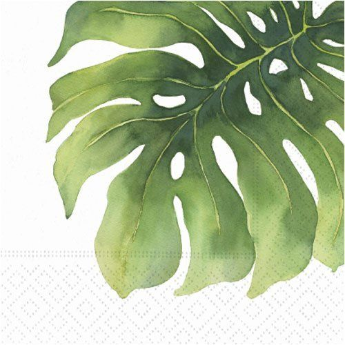 natural or silk palm leaves, bamboo leaves, or other tropical leaves to decorate tables - place them peeking from under trays and food displays.