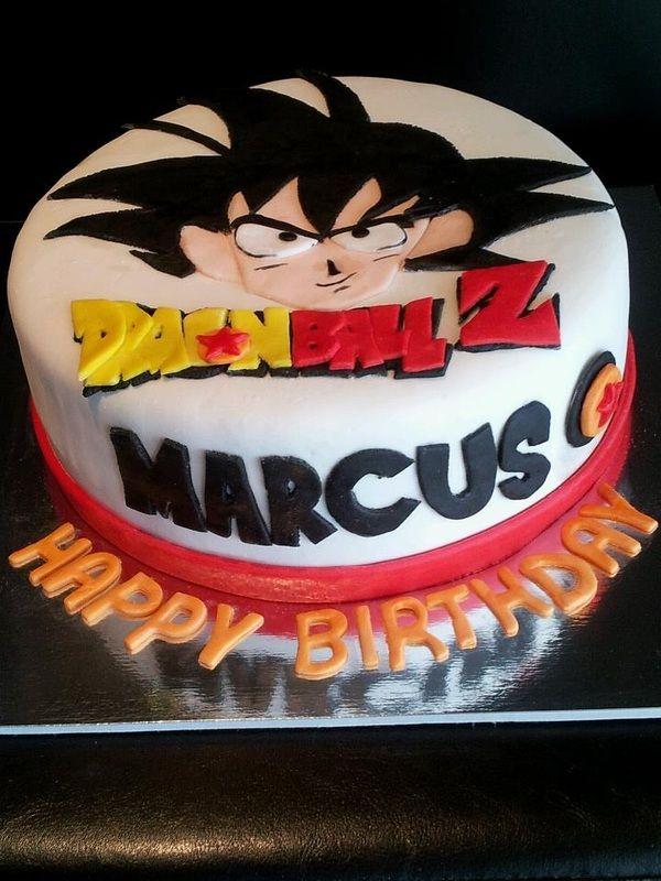 Dragonball Z Goku cake