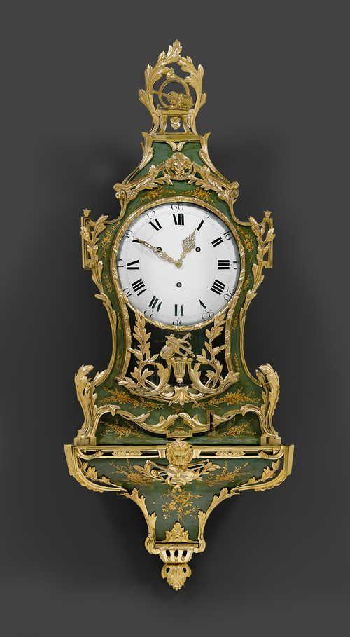 IMPORTANT CLOCK WITH PIPE MECHANISM,  Louis XVI, signed JAQUET DROZ ET LESCHOT A LA CHAUXDEFONDS (Pierre Jaquet Droz, La Chaux-de-Fonds 1721-1790 Biel and Jean Frédéric Leschot, 1733-1804), the case monogrammed JD, the movement numbered 4779, ca. 1770/75.