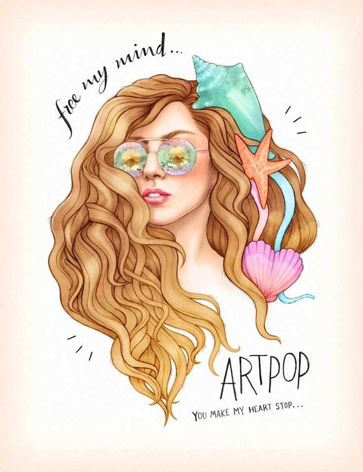 oh my  gosh this is so cute! mermaid Lady Gaga Artpop fanart from Helen Green