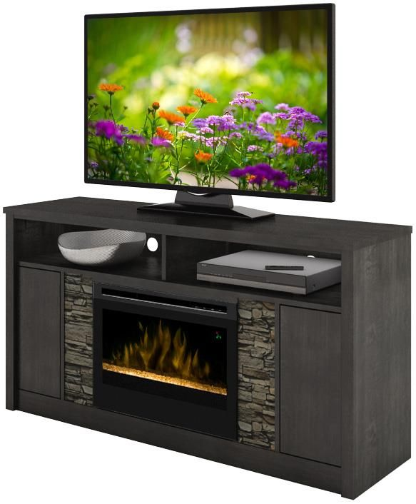Defehr Series 186 Fireplace Tv Console, Greatlin Infrared Electric Fireplace Tv Stand In Black Walnut 26mmas6064 Nw07