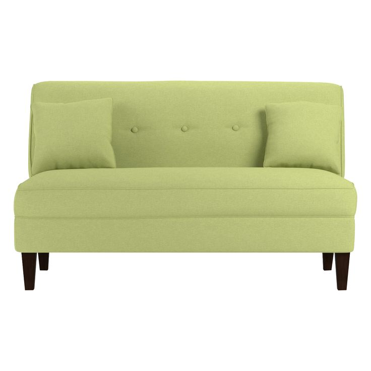 the perseus loveseat is a fresh focal point for your living room a cleanlined armless silhouette and colorful upholstery options offer a