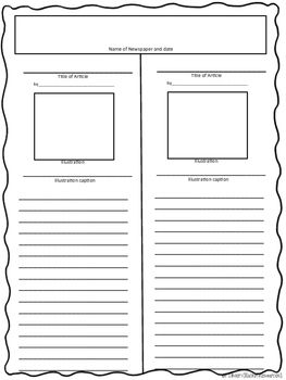 free printable newspaper template for students - 25 best ideas about newspaper article format on pinterest