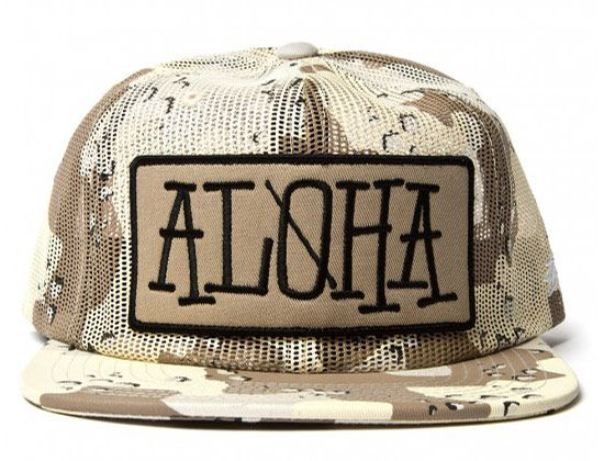 Aloha Camo Snapback Cap by STUSSY