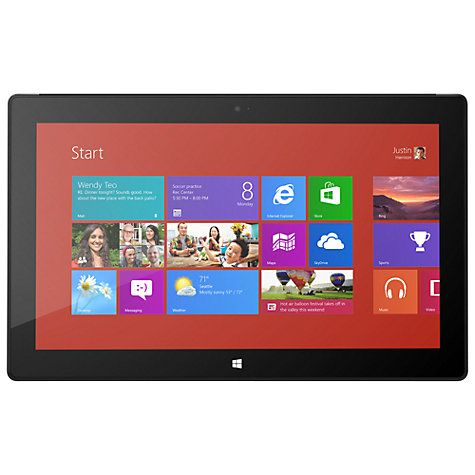 "Buy Microsoft Surface Pro, Intel Core i5, 1.7GHz, Windows 8 Pro, 10.6"", Wi-Fi, 128GB Online at johnlewis.com"