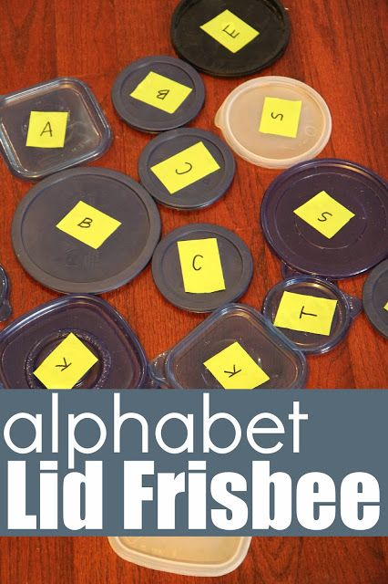 Toddler Approved!: Alphabet Lid Frisbee Game