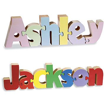 104 best personalized gifts images on pinterest baby presents name puzzle negle Images