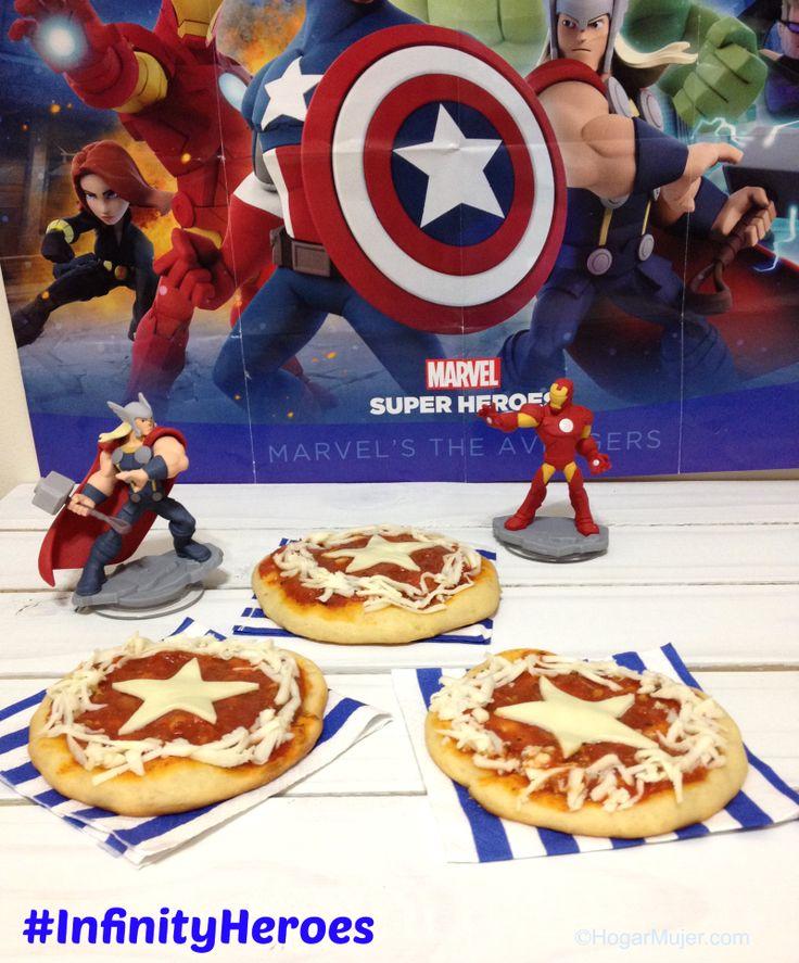 Capitán América Mini Pizzas para celebrar el lanzamiento del nuevo Disney…