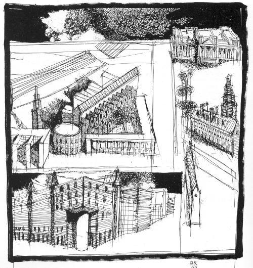 Αποτέλεσμα εικόνας για Aldo Rossi berlin drawings