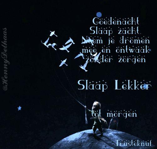 goedenacht gedichtje     (Slaap lekker)