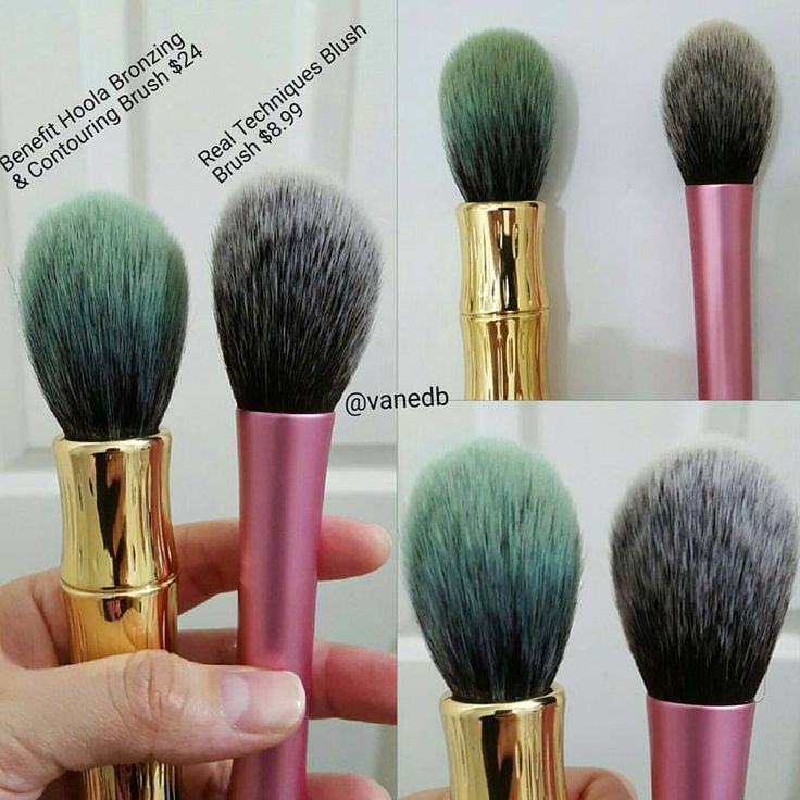 Look at these similar brushes shared by @vanedb → Benefit Hoola Bronzing & Contouring Brush VS Real Techniques Blush Brush @dupethat #makeup