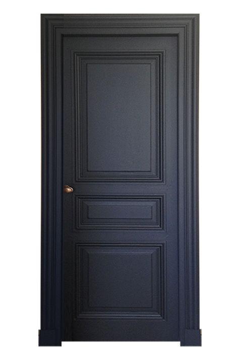 porte 3 panneaux style haussmann peinte. Black Bedroom Furniture Sets. Home Design Ideas