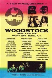 Woodstock Lineup Poster