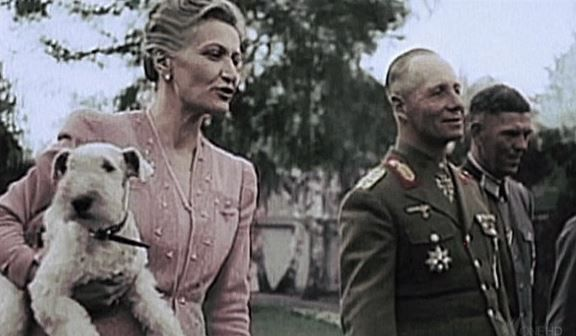 erwin rommel with magda goebbels