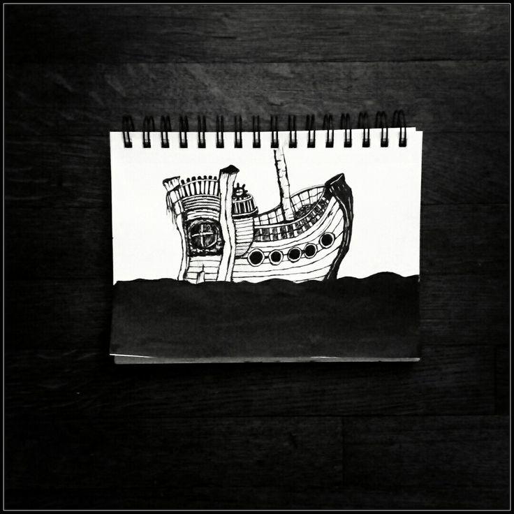 Inktober 2017, Day 25 ( Ship )