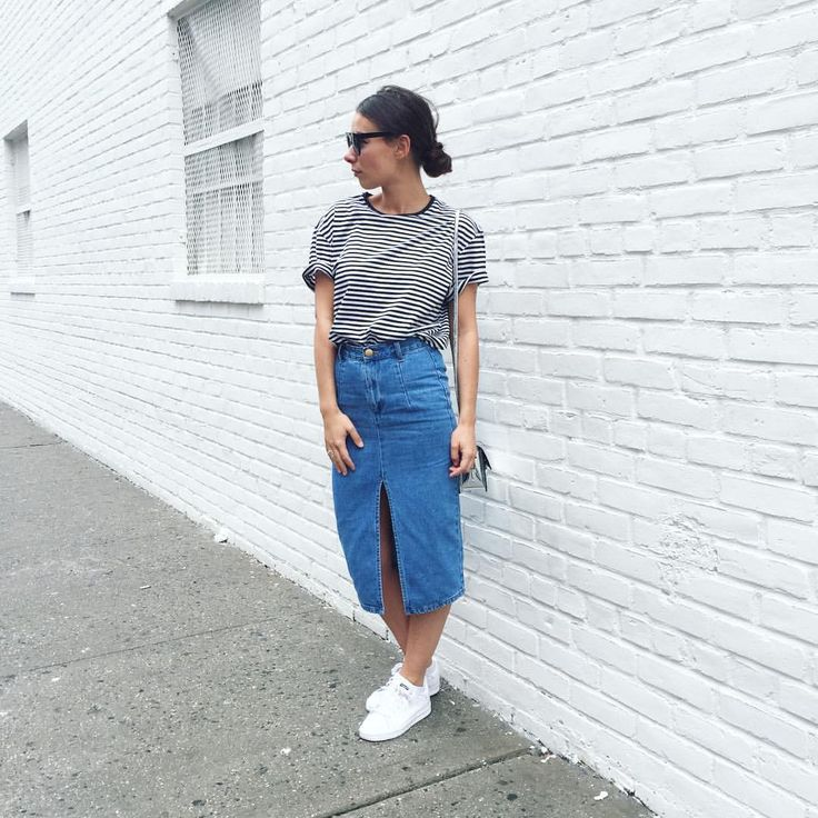 "Alice B. on Instagram: ""Trop d'amour pour ma nouvelle jupe fourreau en jean 