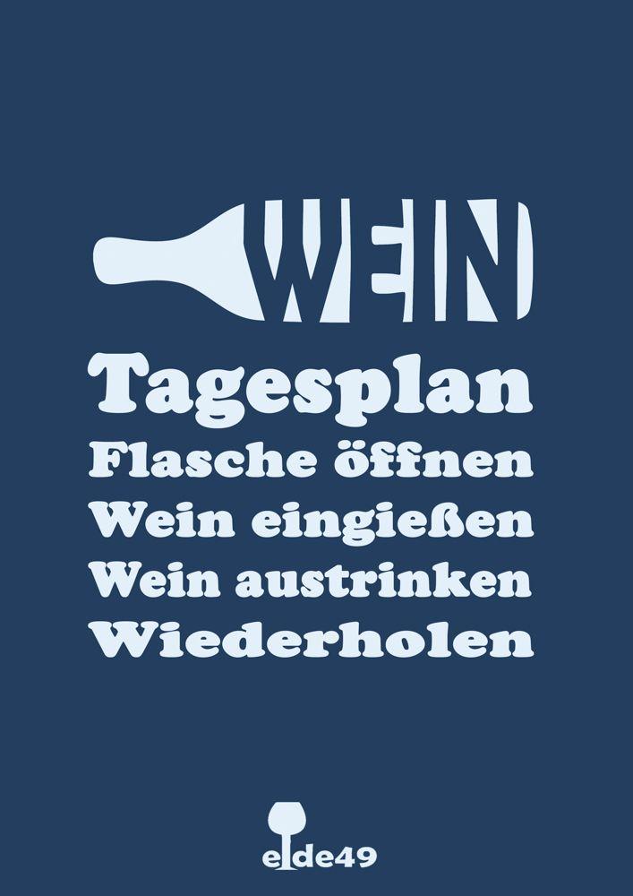 Wein Tagesplan