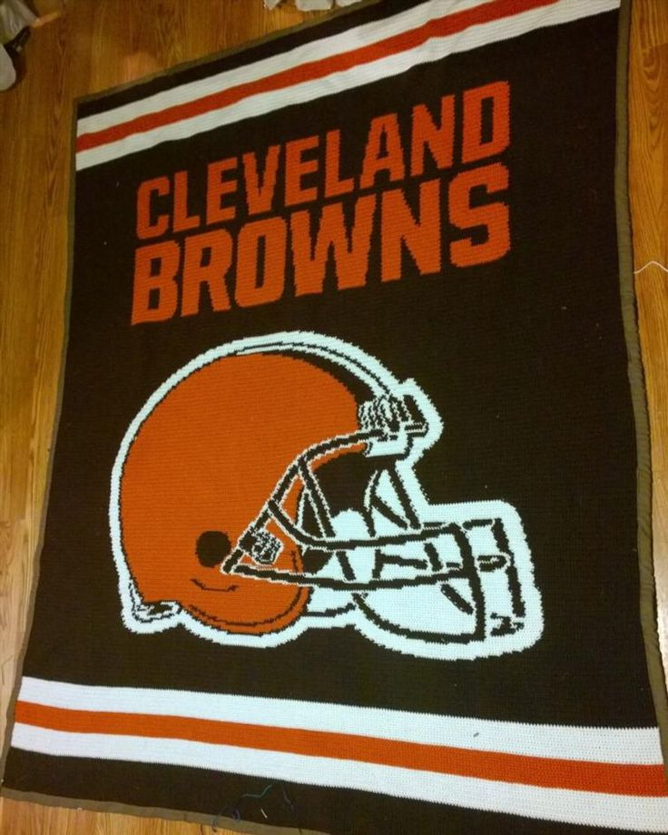 Cleveland Browns Afghan | Craftsy