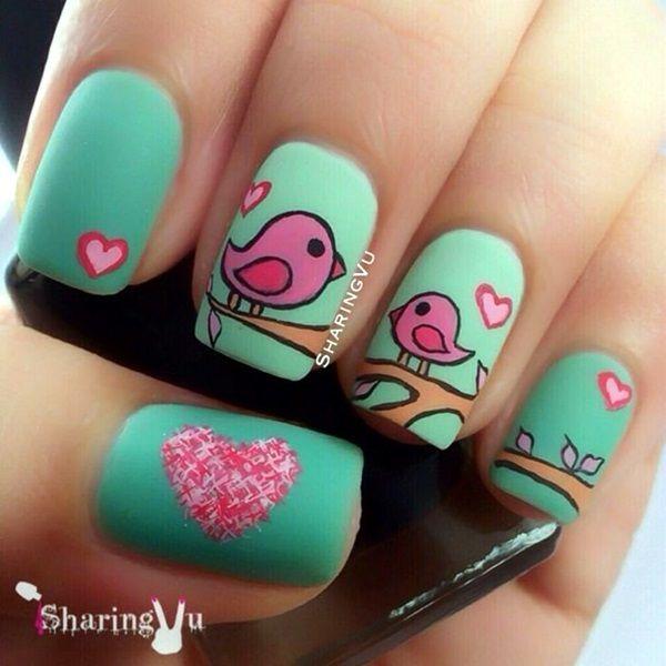 Diseños de Uñas para San Valentín 13