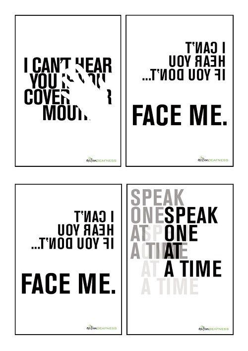 Deaf Awareness Posters