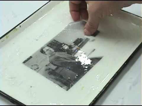 Transferring a printed image - The gel image transfer method