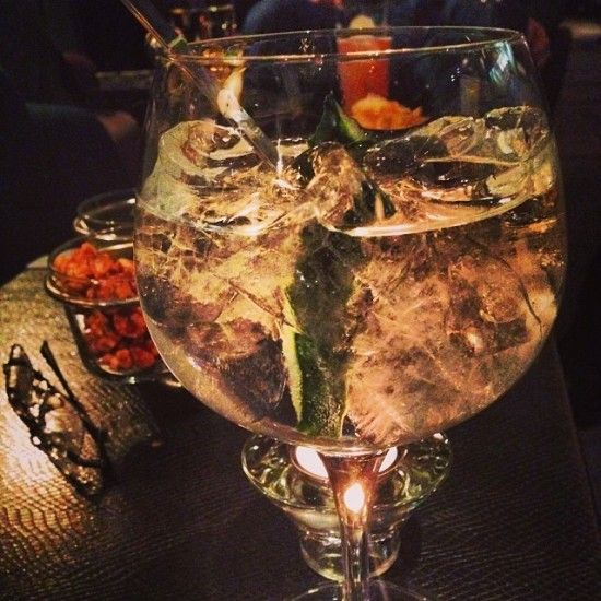 This is what I call a gin & tonic! At Hotel Villamagna, Madrid, Spain