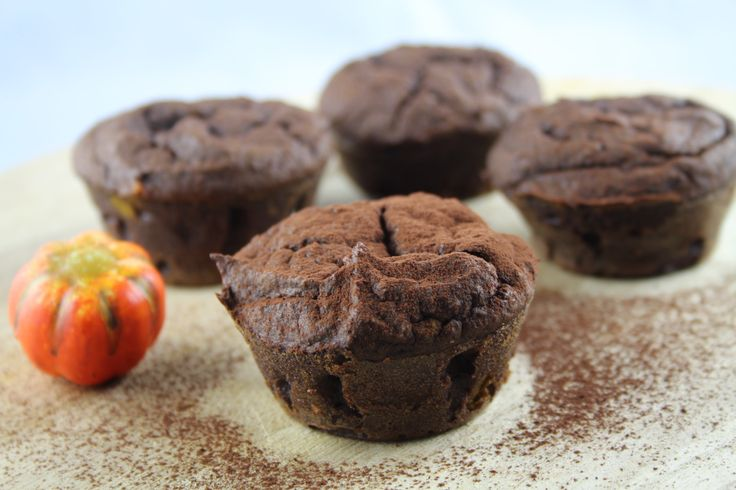 Low Carb Schoko Kürbis Muffins