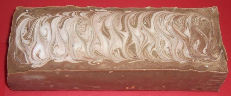 Csokis-márványos szappantömb