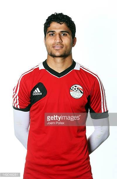 Aly Lotfi of the Egypt Men's Olympic Football Team at the Hilton Hotel on July 22 2012 in Cardiff Wales