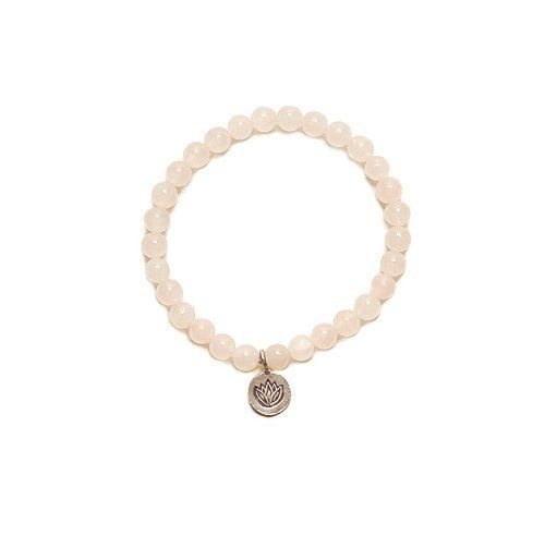 "Rose Quartz & Lotus Bracelet House of Shakti. $28.00. Handcrafted in Beverly Hills, CA. Rose Quartz beads and Karen Hill Tribe Silver Heart Bracelet. measures 7"". Save 39% Off!"