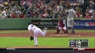 #Boston Pitcher Ryan Dempster Intentionally Throws Ball At Alex Rodriguez - #Yankees