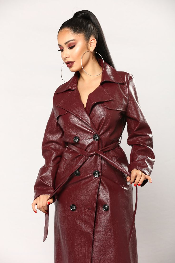 If Looks Could Kill Jacket Burgundy Mightbull