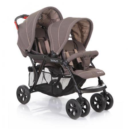 Baby Care Baby Care, Коляска для двойни Tandem (Brown/Grey)  — 13000р.