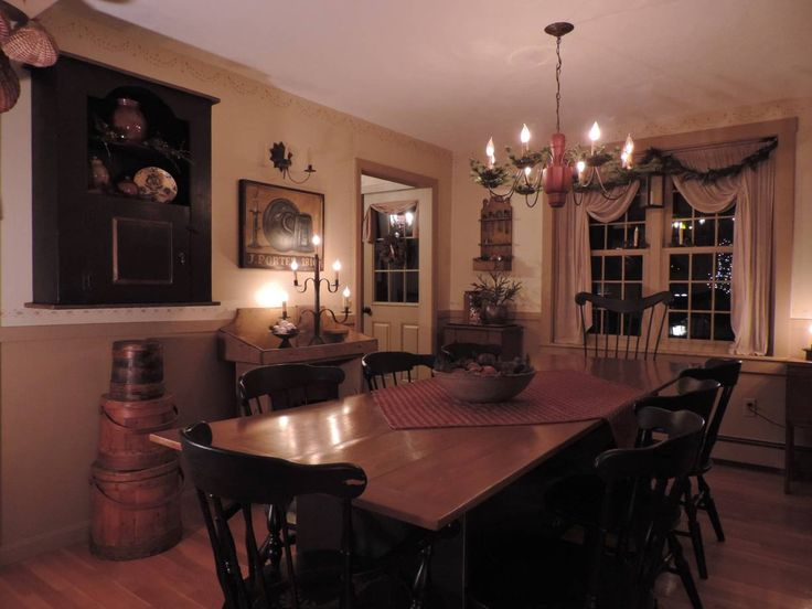 1000 Ideas About Primitive Dining Rooms On Pinterest Windsor Chairs Dinin