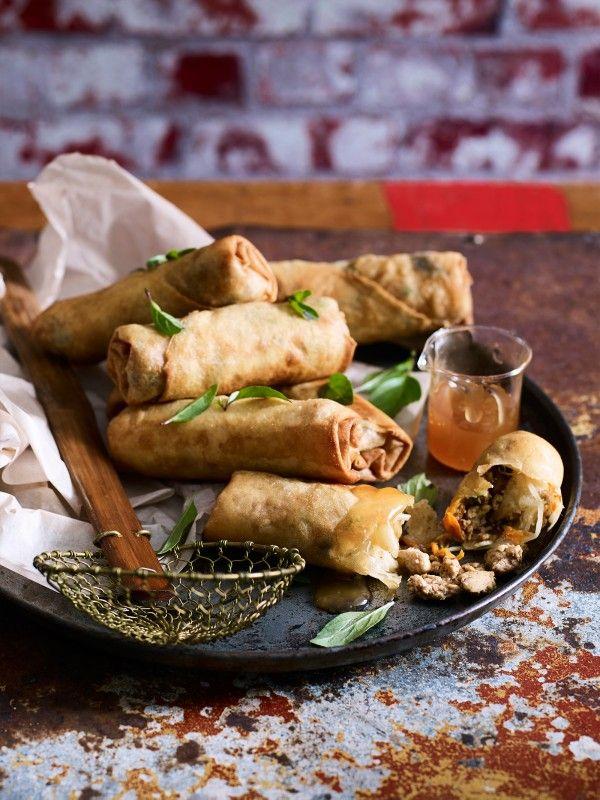 Chicken Spring Rolls with Plum Sauce Recipe | myfoodbook
