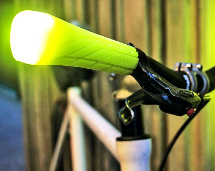 HueRay's rechargeable bike grip lights protect cyclists from the side | Inhabitat - Sustainable Design Innovation, Eco Architecture, Green Building