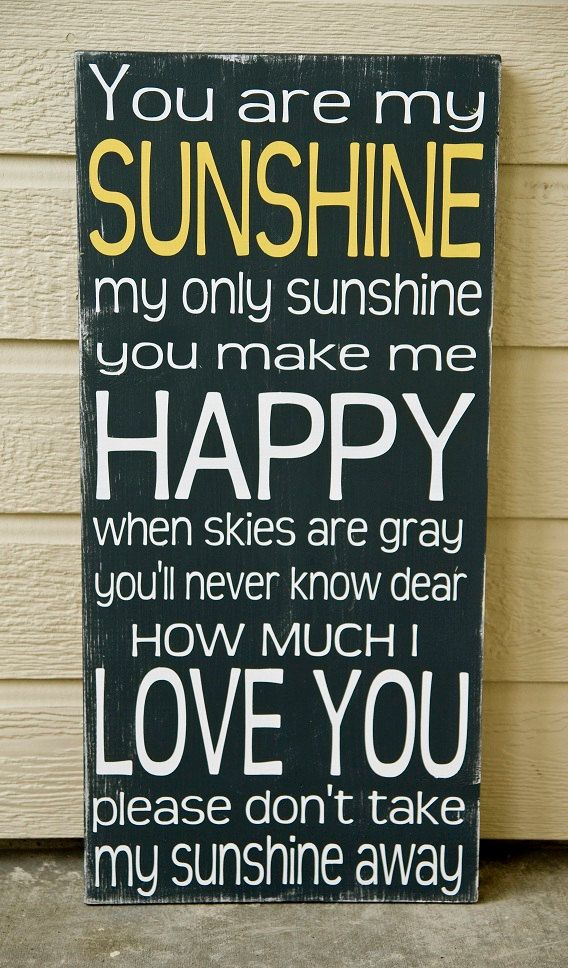 You Are My Sunshine Sign  Distressed Sunshine Sign  by WordWhipped, $60.00
