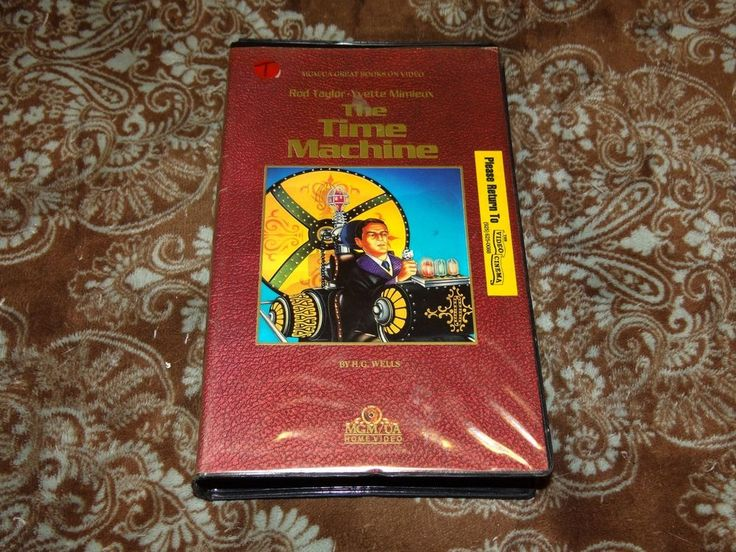 """The Time Machine (VHS, 1987) OOP MGM/UA! """"Books on Tape"""" Clamshell 1960 Version!"""