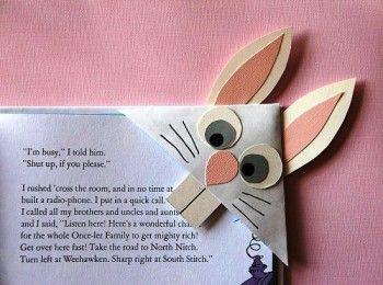 закладки из бумаги заяц