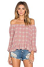 Julia Off Shoulder Top in Vintage Springs