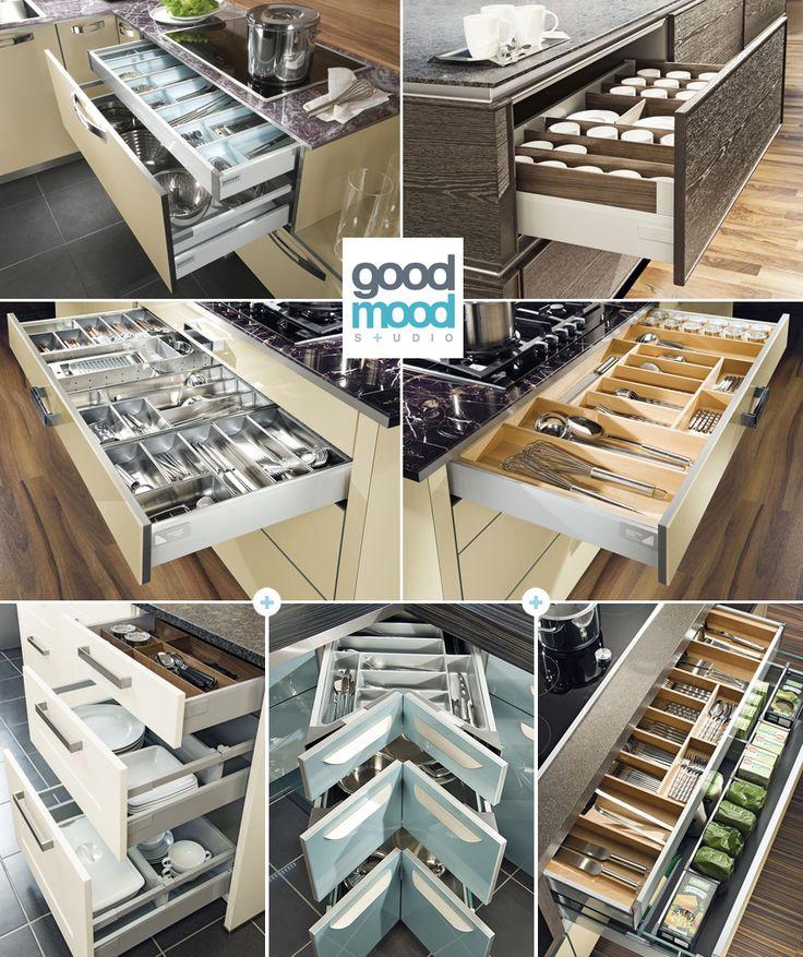 Organizacja przestrzeni w kuchni – Szuflady
