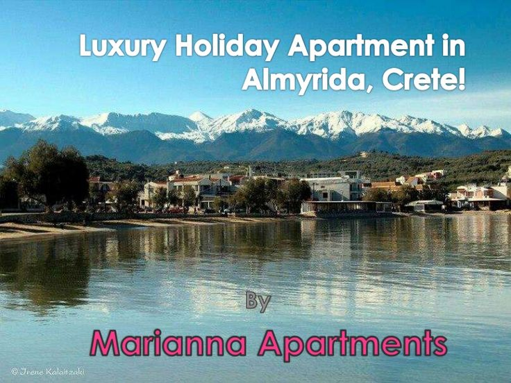 Luxury Holiday Apartments in Almyrida, Crete!