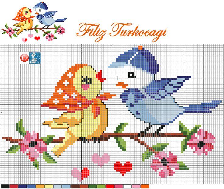 Kuşları ben de çok seviyorum :)) İsterseniz bu şekilde ...Designed by Filiz Türkocağı...