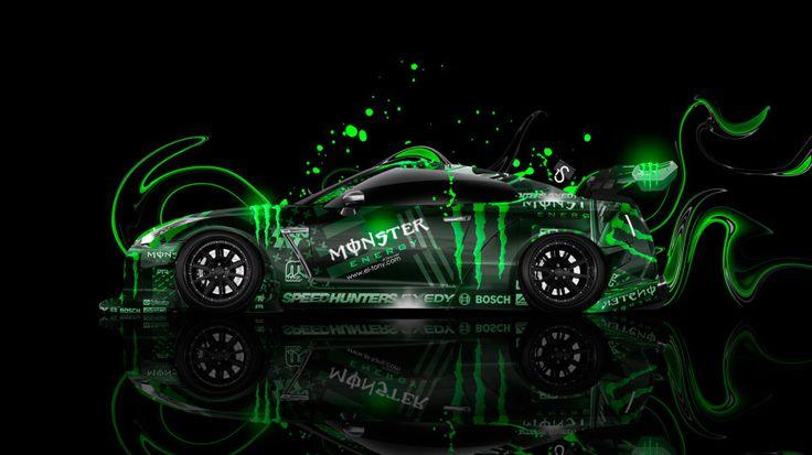 Monster Energy Nissan GTR R35 Tuning Side Plastic