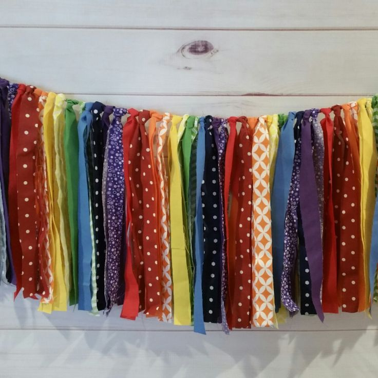 Coming to the shop...the smaller version of the rainbow fabric streamer backdrop!