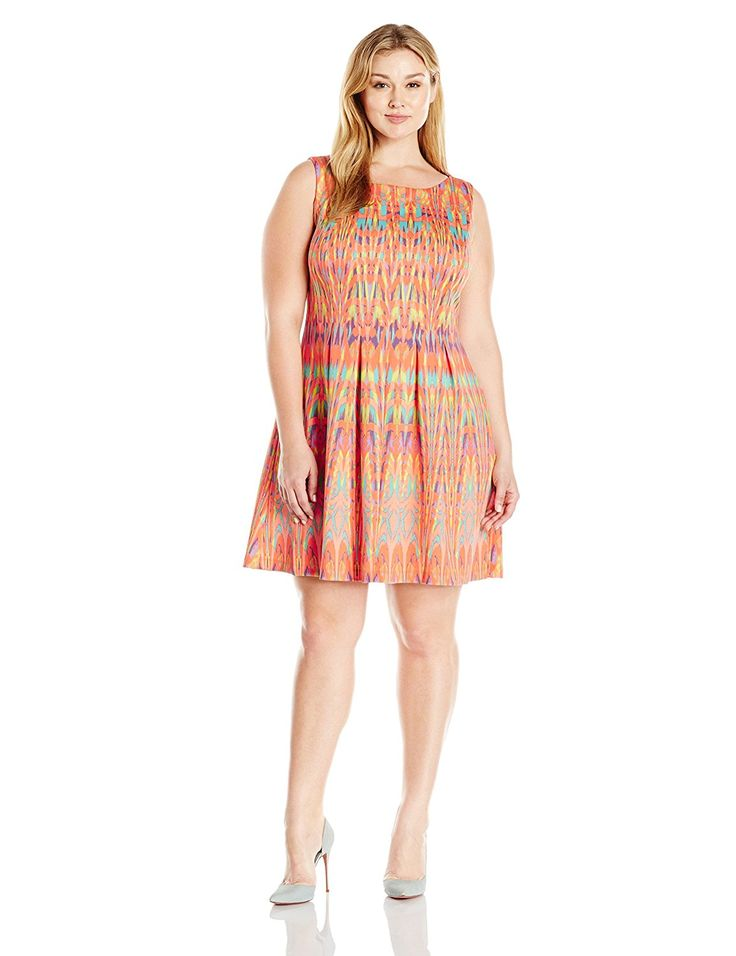 Gabby Skye Women's Plus-Size Aztec Printed A-Line Dress >>> Hurry! Check out this great product : Evening dresses